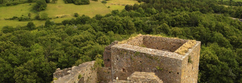 Castle of Brancion in Burgundy, France