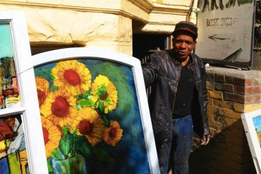 Artist Chris Duke's studio in San Francisco © Travelwithmk.com