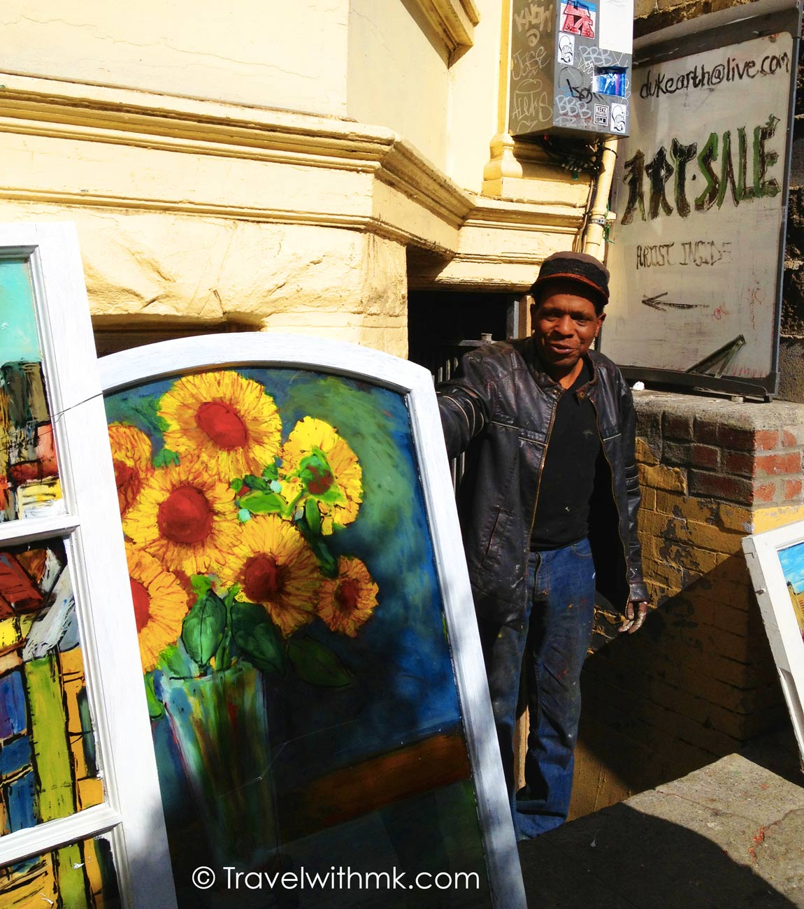 Chris Duke: A Blues Musician and Window Glass Painter in San Francisco • Travel with Mei and Kerstin