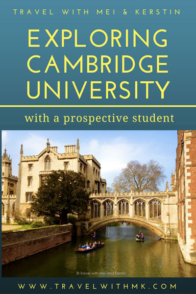 Exploring Cambridge University with a prospective student © Travelwithmk.com