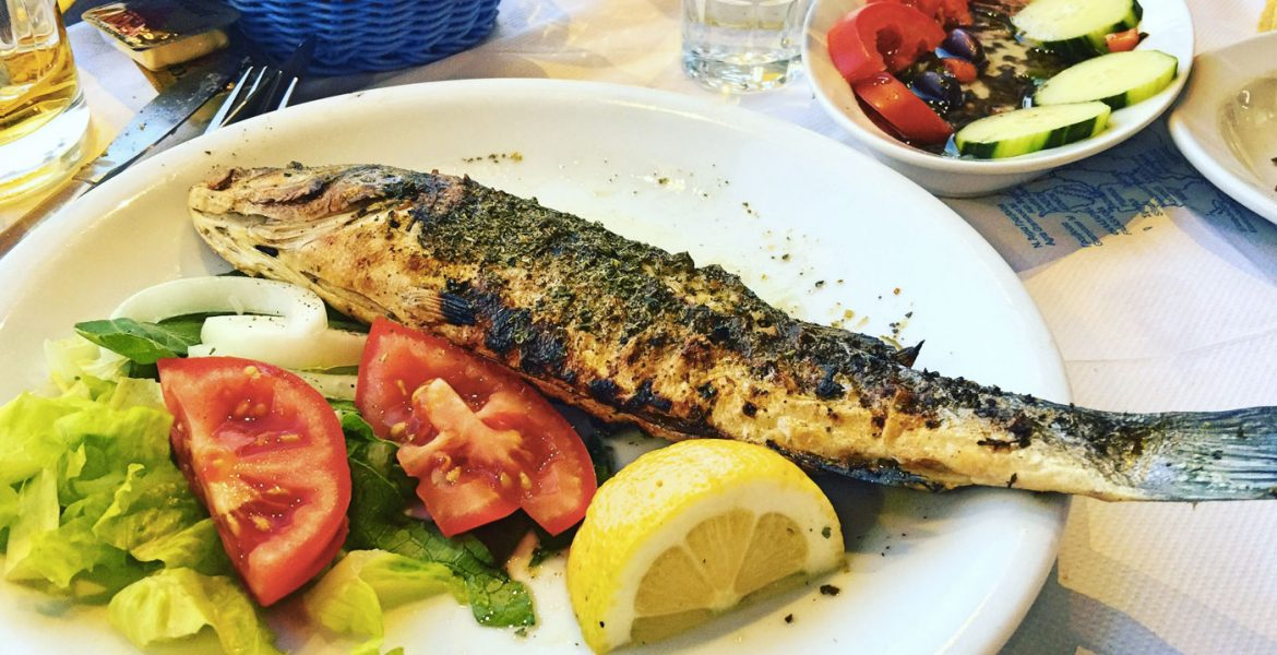 Grilled Fish, Muses Restaurant, Crete © Travelwithmk.com