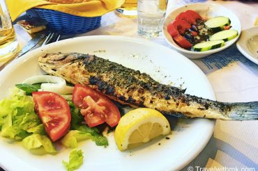 Grilled Fish, Muses Restaurant, Crete © Travelwithmk.com