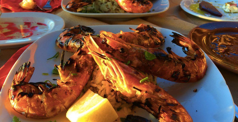 Grilled Shrimps, Kalathas, Crete © Travelwithmk.com