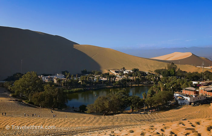 Huacachina oasis in Peru © Travelwithmk.com