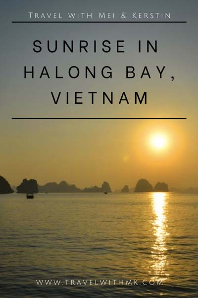 Sunrise in Halong Bay, Vietnam © Travelwithmk.com