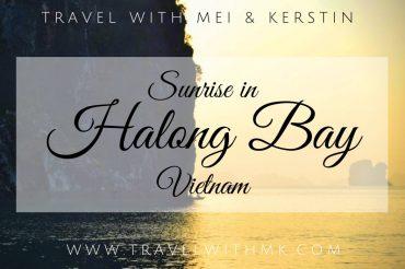 Sunrise in Halong Bay, Vietnam