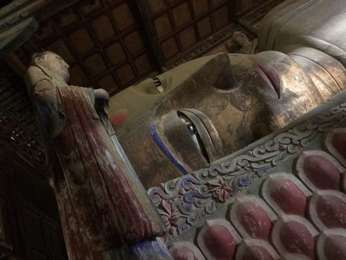 Reclining Buddha in the Dafo Temple, Zhangye © Travelwithmk.com